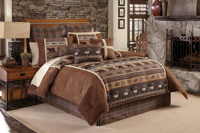 amazon com croscill caribou wc comforter set king multicolor