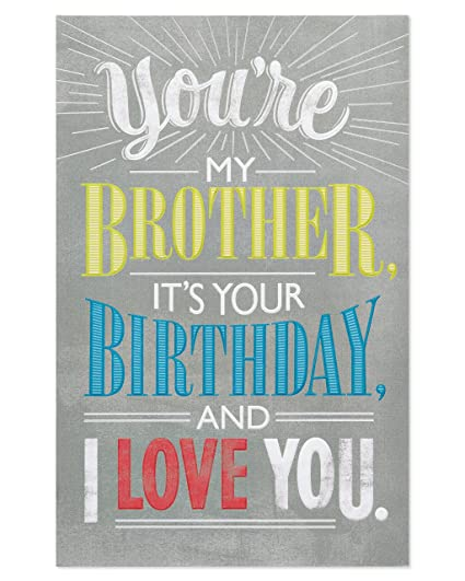 Amazon American Greetings Deal With It Birthday Card For Brother Office Products