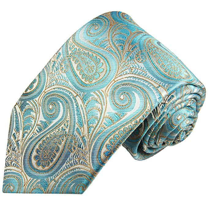 Paul Malone corbata de seda paisley turquesa: Amazon.es: Ropa y ...