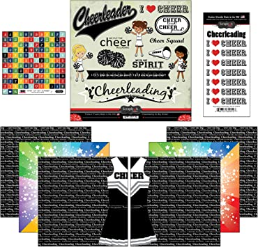 5 Sheets Cheerleading Team Spirit Cheer 12x12 Scrapbook Paper by Reminisce