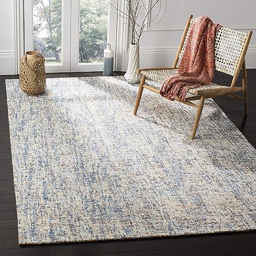 Safavieh Abstract Collection ABT468C Handmade Wool Area Rug, 9 x 12 , Dark Blue Rust