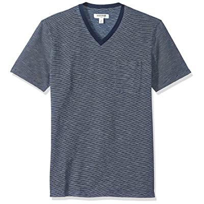 Brand - Goodthreads Men's Short-Sleeve Indigo V-Neck Pocket T-Shirt: Clothing