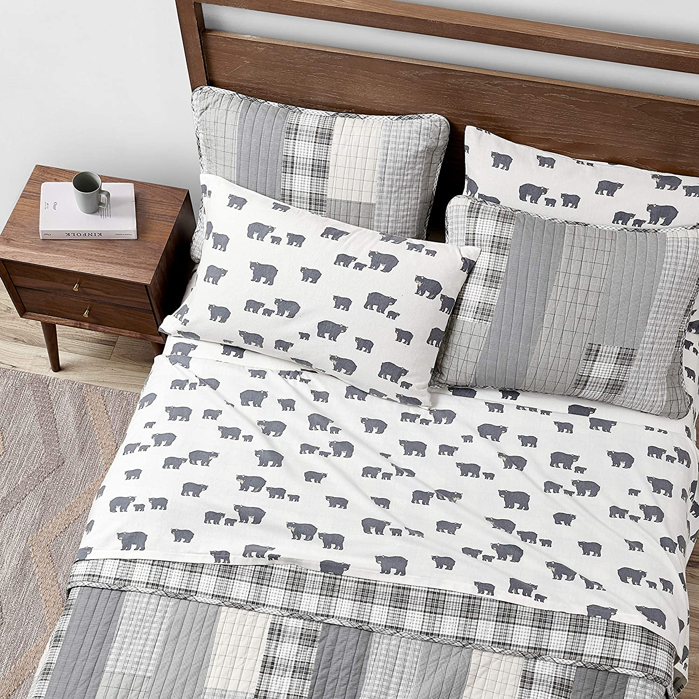 Eddie Bauer 216286 Bear Family Flannel Sheet Set Full Gray Amazon Ca Home Kitchen