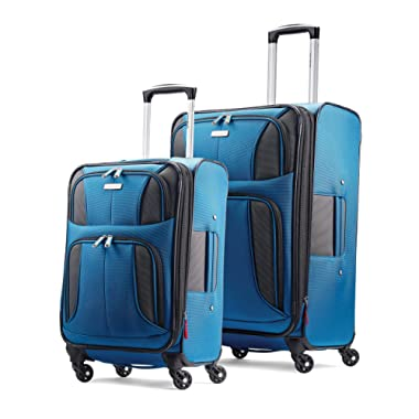 Samsonite Aspire xLite Expandable Softside Set with Spinner Wheels, 2-Piece (20 /25 ), Blue Dream