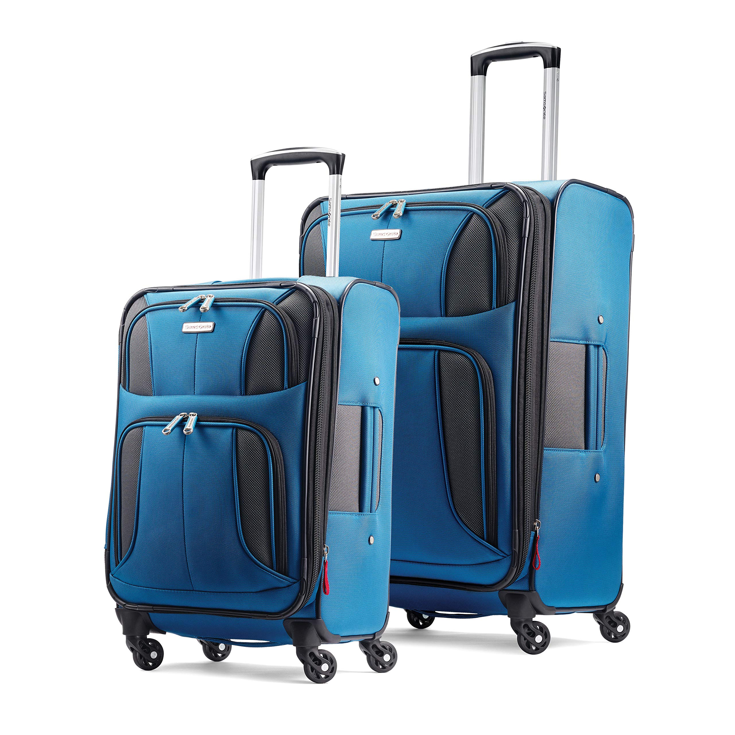 Samsonite Aspire xLite Expandable Softside Set with Spinner Wheels, 2-Piece (20''/25''), Blue Dream