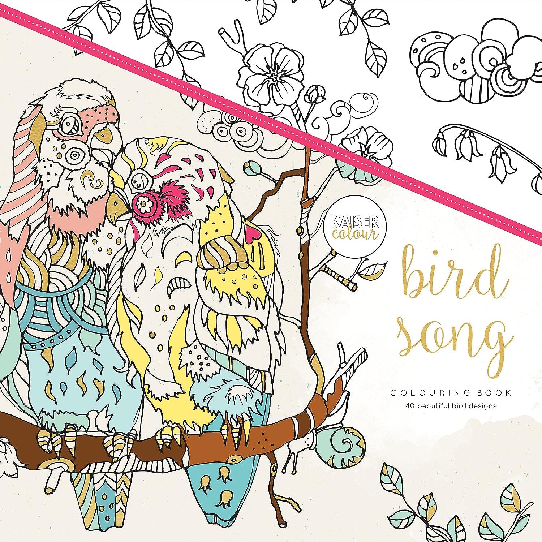 """1925405176 Kaisercolour Perfect Bound Coloring Book 9.75""""x9.75""""-bird Song A11bSMhAqUL"""