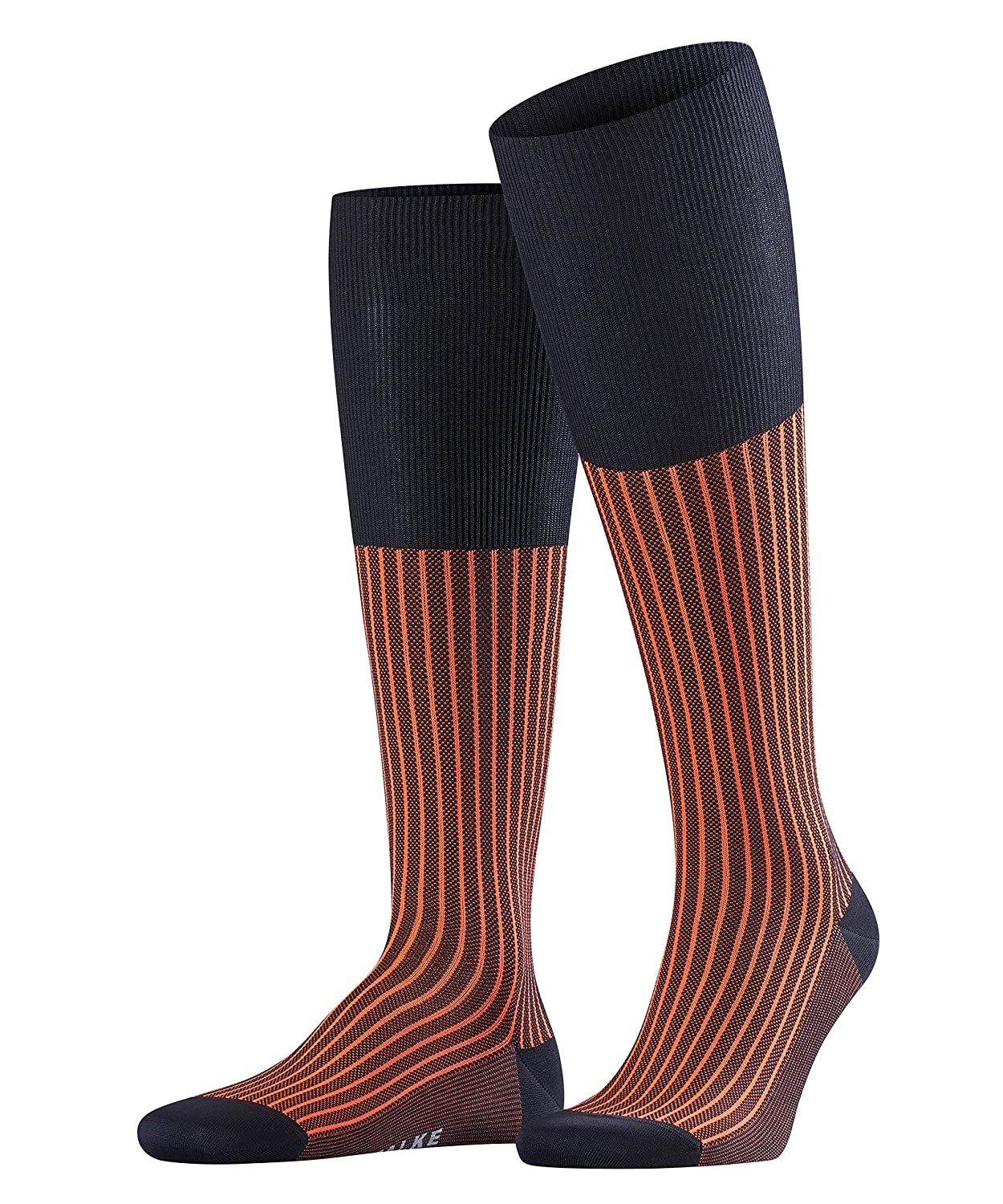 Falso|#Falke Men Oxford Stripe Socks - Dark Navy, 39-40 15749