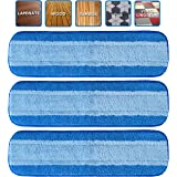 VanDuck Microfiber Cleaning Pads Compatible with Bona Mop (3 Pack). Hardwood Floor Replacement Cleaning Head.