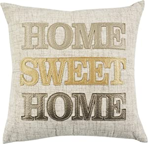 """Comfy Hour 14""""x14"""" Home Sweet Home Accent Pillow Throw Pillow Sweet Cushion"""