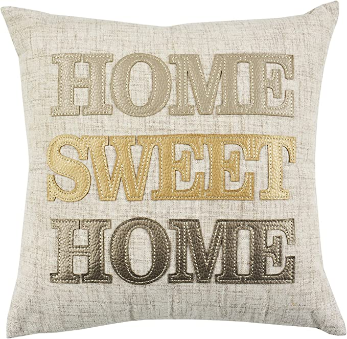 Comfy Hour 14 X14 Home Sweet Home Accent Pillow Throw Pillow Sweet Cushion Polyester Home Kitchen