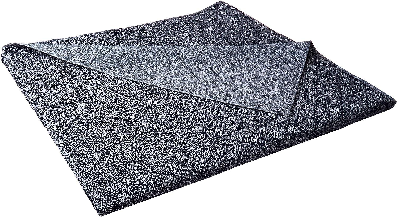 Luxury Bedding Company Sarita Garden LUX-Bed 1 Pc 100% Cotton Quilt Set, Full/Queen, Blue