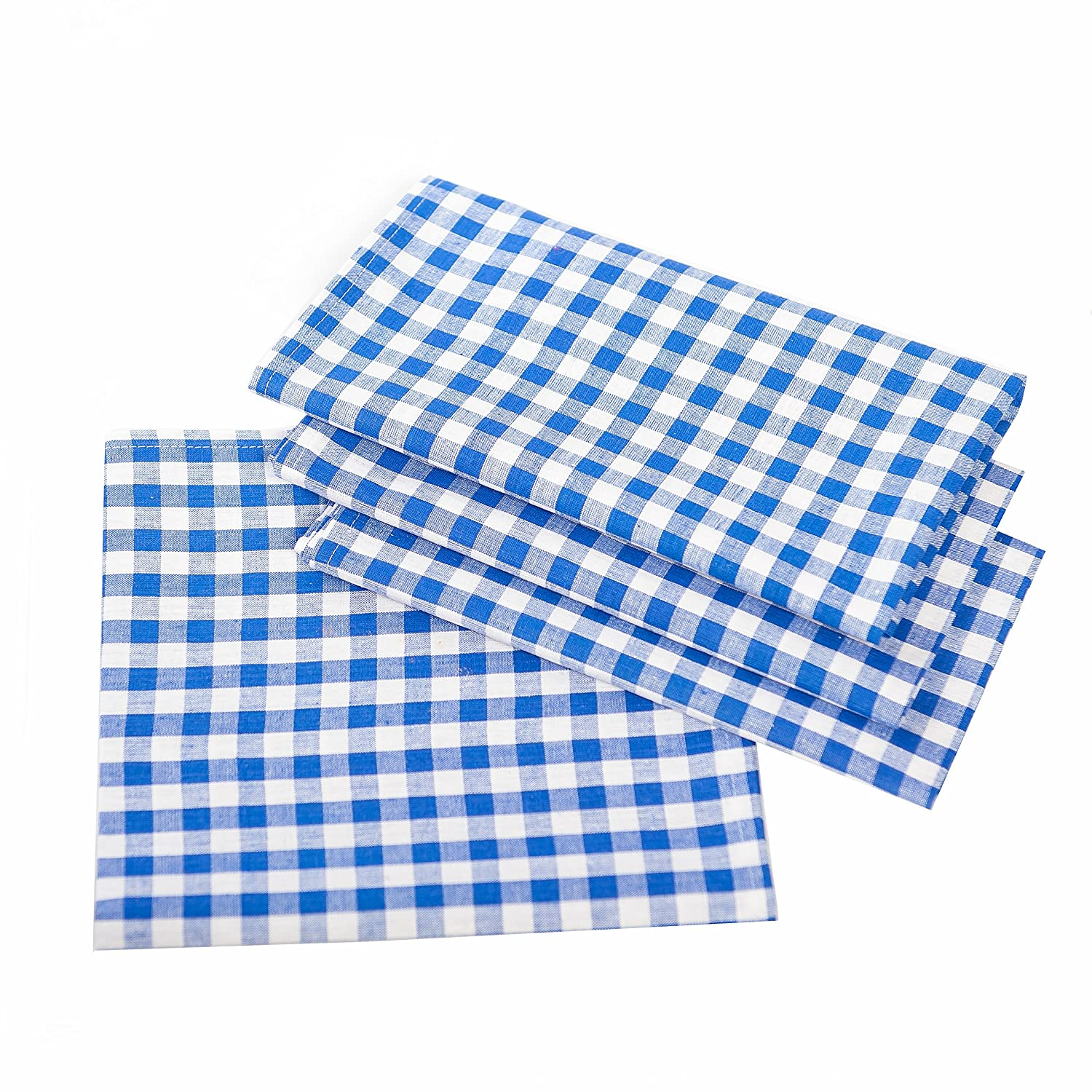 Country House Checkered Table Covers–Choose your Size & Colour–100% Cotton, Cotton, Chequered Red / White, 30x30 cm eckig TextilDepot24