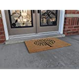 All Natural Coir Mats Beautiful Tree Design Entrance Floor Door Indoor and Outdoor with Robust PVC Back Gift Home House Patio