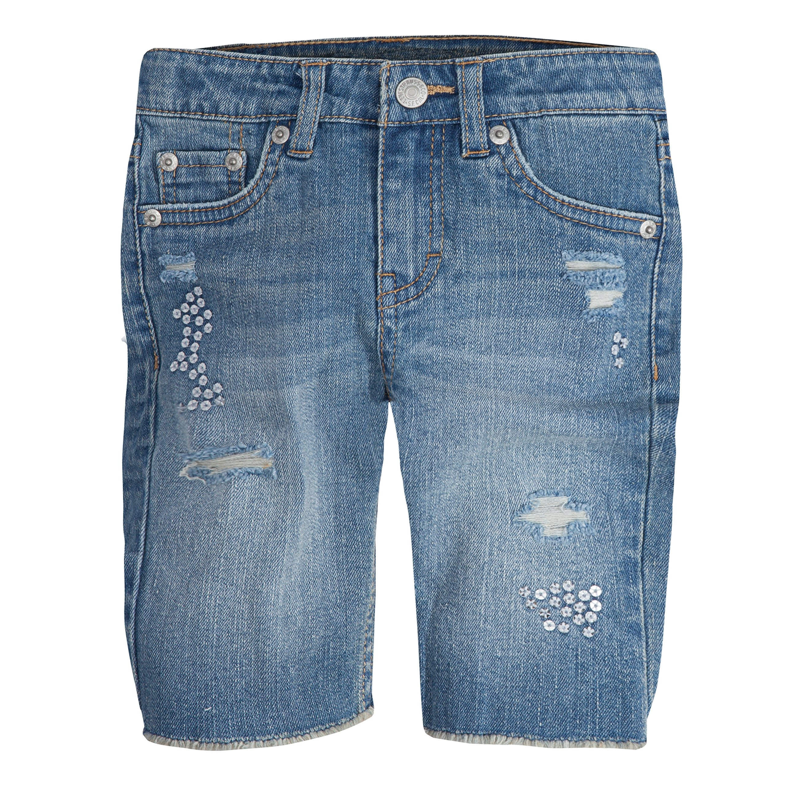 Levi's Big Girls' Denim Bermuda Shorts, Vintage Waters, 10