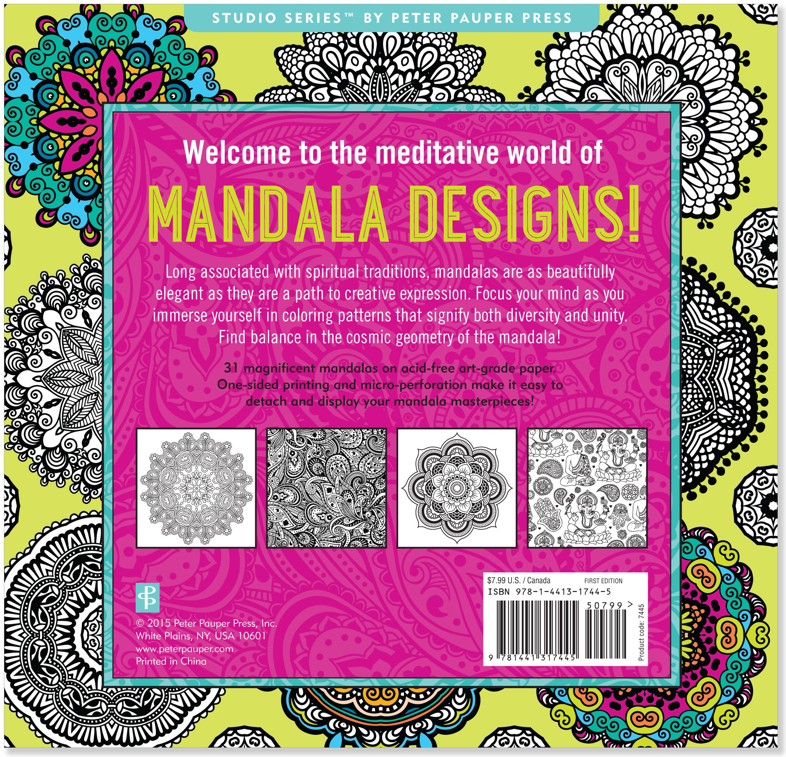 Stress coloring books - Amazon Com Mandala Designs Adult Coloring Book 31 Stress Relieving Designs Studio 9781441317445 Peter Pauper Press Books