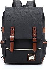 HASAGEI Ukbb0006 Vintage Unisex Casual School Travel Laptop Backpack Rucksack Daypack Tablet Bags (Green)