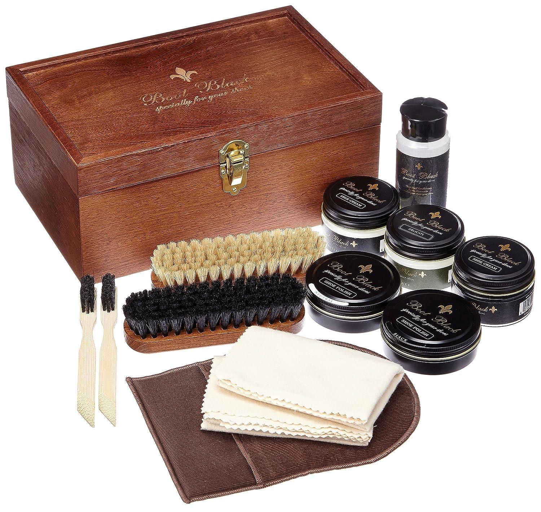 [ブートブラック] SHOECARE SET BALALAIKA メンズ BBバラライカ B00HU5DLWC 木製箱(ナチュラル) リサ+13_