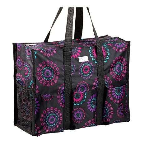 Pursetti Zip-Top Organizing Utility Tote Bag with Multiple Exterior    Interior Pockets for Working 126732377