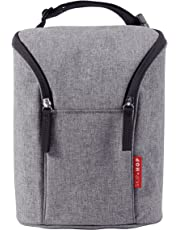 Skip Hop Insulated Breastmilk Cooler And Baby Bottle Bag, Grab & Go Double, Heather Grey