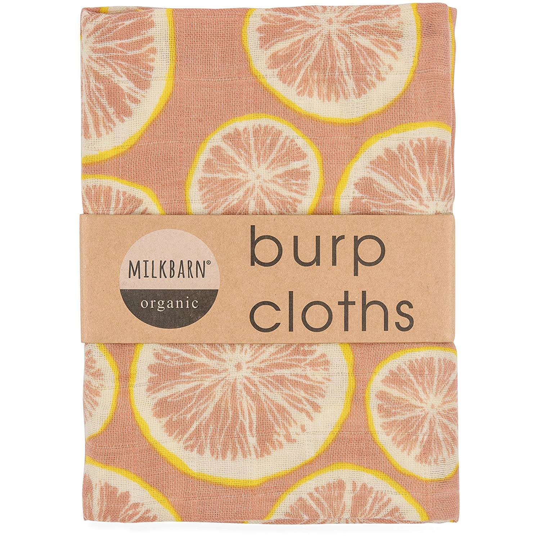 2 pack Milkbarn Organic Cotton Burp Cloths