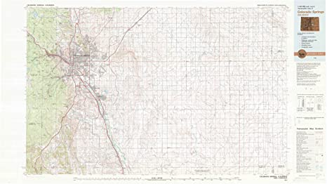 Topographic Map Colorado Springs.Amazon Com Yellowmaps Colorado Springs Co Topo Map 1 100000 Scale