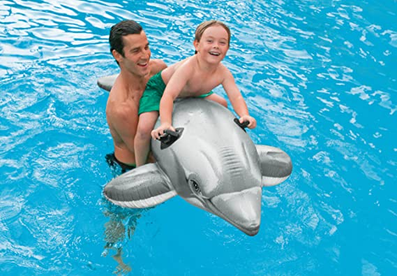 INTEX - Delfín hinchable acuático 201 x 76 cm - 58539NP: Amazon.es: Juguetes y juegos