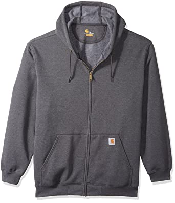 fc4f3c2b6 Carhartt Men's Big and Tall Big & Tall Midweight Zip Front Hooded Sweatshirt  K122, Carbon