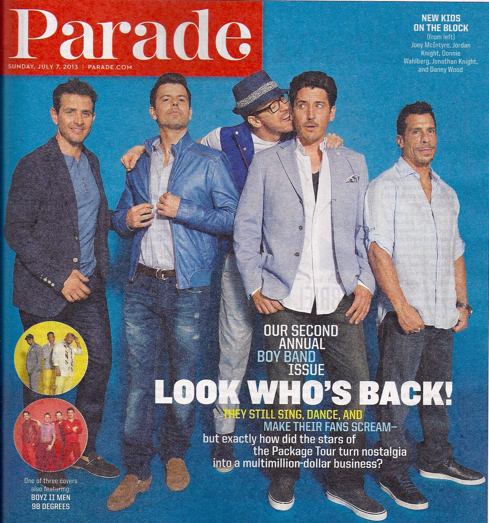 Download New Kids on the Block, Joey McIntyre, Jordan Knight, Second Annual Boy Band Issue, Gabriel Macht - July 7, 2013 Parade Magazine pdf epub