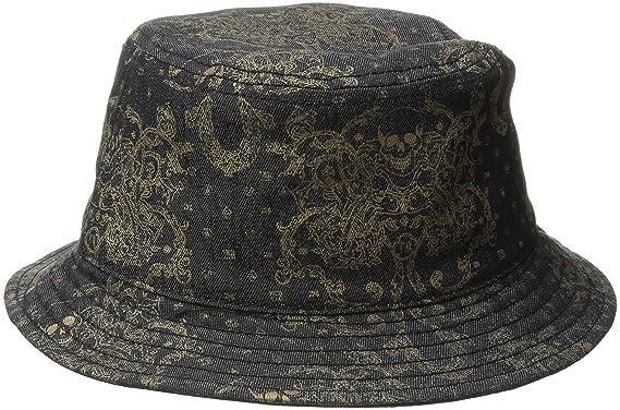 78cc4f22d True Religion Men's Metallic Print Bucket Hat, Black, Large/X-Large