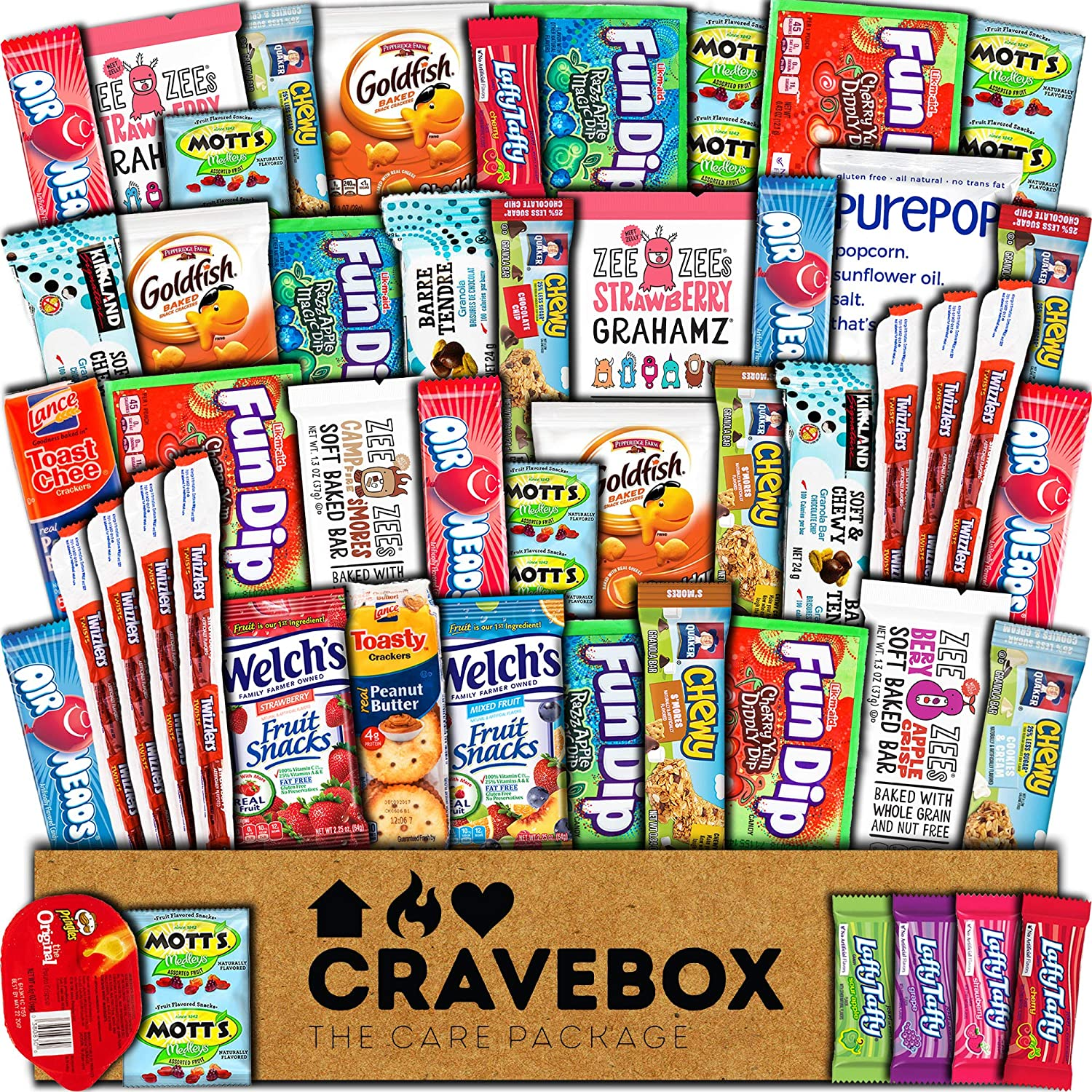 97581a6739c5 Amazon.com : CraveBox Snacks 50 Count Ultimate Care Package Variety ...