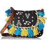 Kanvas Katha Women's Sling Bag (Black) (KKMTRI005)