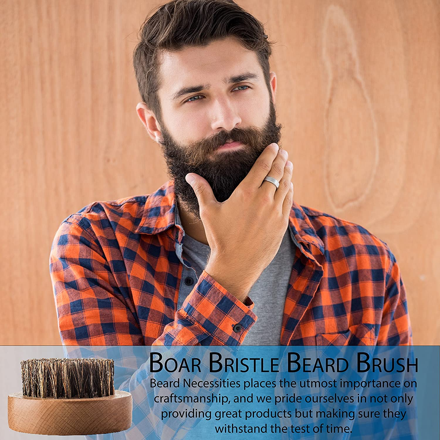 a7b04ca81d81 Beard Brush For Men By Beard Necessities - Made With Pure Boar Bristles and  Bamboo. Add To Any...