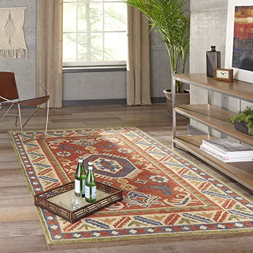 Momeni Rugs Tangier Collection, 100 Wool Hand Tufted Tip Sheared Transitional Area Rug, 7 6 x 9 6 , Ivory