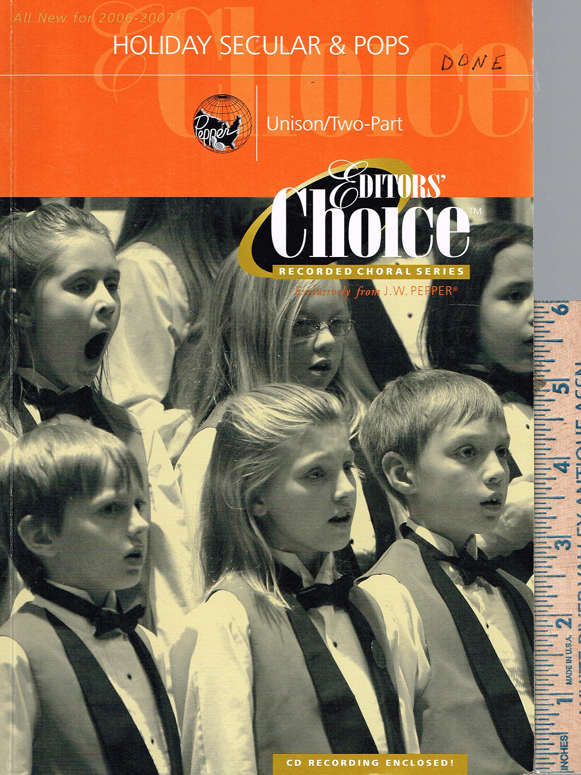 J W Pepper Editors' Choice Recorded Choral Series with audio
