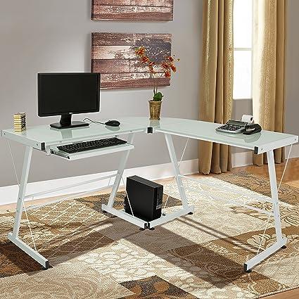 Amazoncom Best Choice Products L Shape Computer Desk Workstation W