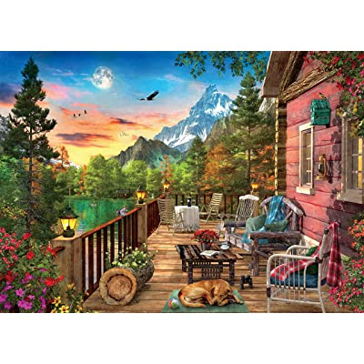 Ceaco Weekend Retreat Collection Mountain View Jigsaw Puzzle, 1000 Pieces: Toys & Games