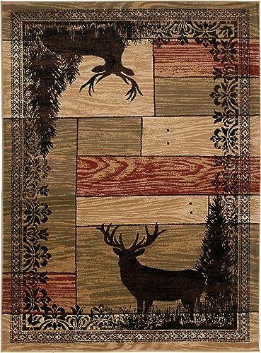 Mayberry Rugs Woodgrain Elk Area Rug, 7 10 x9 10 , Multicolor