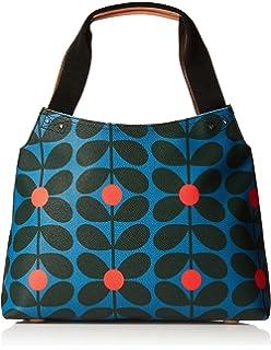 3b711c30b3 Orla Kiely Womens Classic Zip Shoulder Bag Messenger Bag Multicolour (Blue  Kingfisher)
