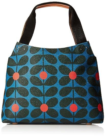 Orla Kiely Womens Classic Zip Shoulder Bag Messenger Bag Multicolour (Blue  Kingfisher)  Amazon.co.uk  Shoes   Bags bae851940e2e4