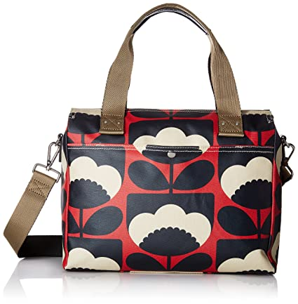 ff067aa6f8c Orla Kiely Women s Zip Messenger Bag, Red (Poppy), 32.5x30.5x8.2 cm (W x H  x L)  Amazon.co.uk  Luggage