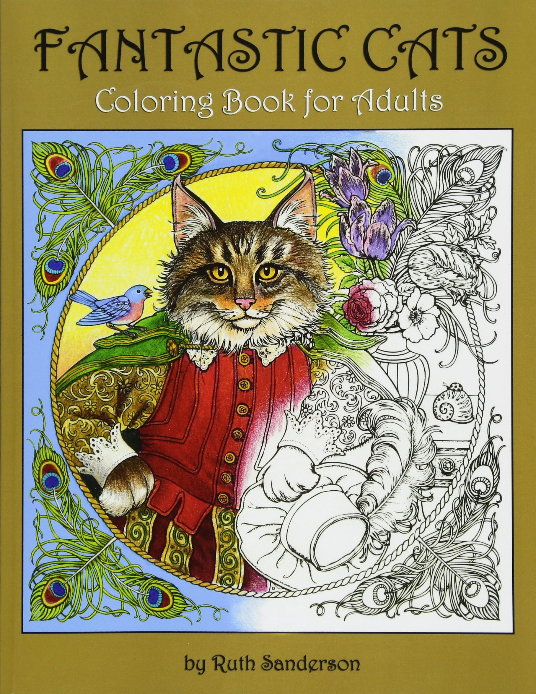 Fantastic Cats: Coloring Book for Adults