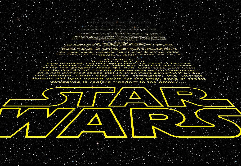 Fototapete Star Wars INTRO 368x254cm Cartoon Sci-Fi Fantapete Kindertapete