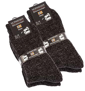 4 pares de gruesa y cálida lana calcetines para hombre: Amazon.es: Ropa y accesorios