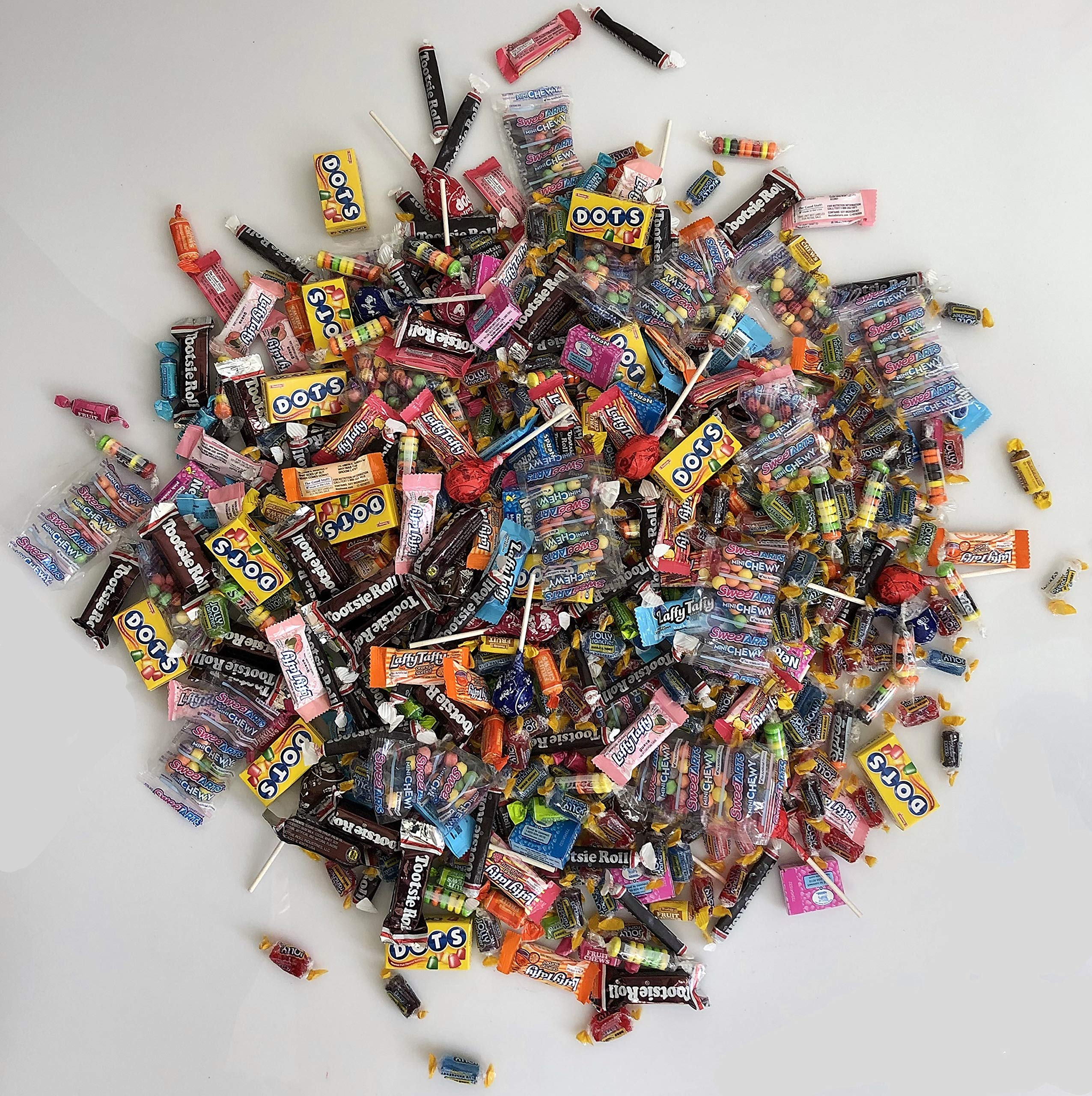 Assorted Bulk Candy, Individually Wrapped: 12 LB Box Variety Pack with Tootsie Rolls, Tootsie Pops, Jolly Ranchers, Nerds, Assorted Laffy Taffy's & More! Great for Holiday and Party Treats by Betalicious (Image #3)