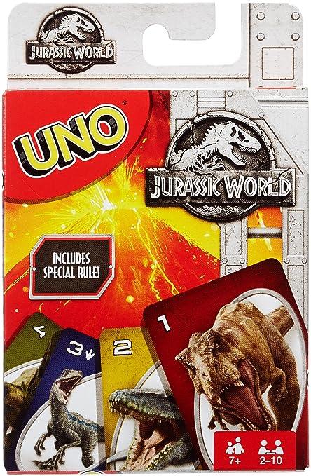 Amazon Uno Jurassic World Card Game Mattel Toys Games