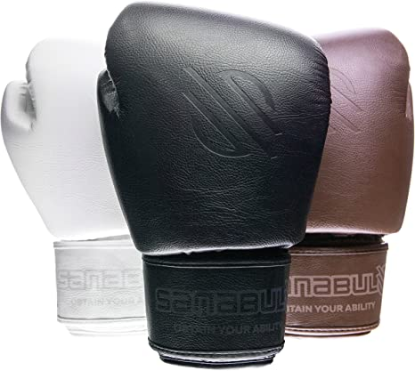 Sanabul Battle Forged Thai Style Kickboxing Professional Gloves Black 14 Oz Amazon Co Uk Sports Outdoors