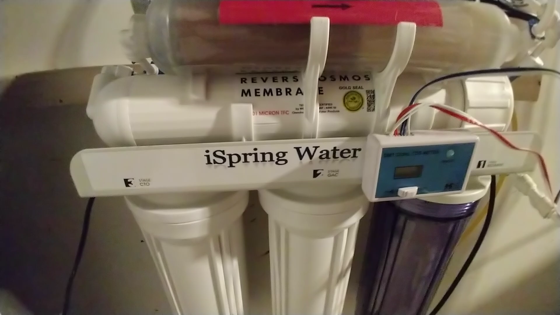 iSpring RCC7AK UV DELUXE Under Sink 7 Stage Reverse Osmosis Drinking