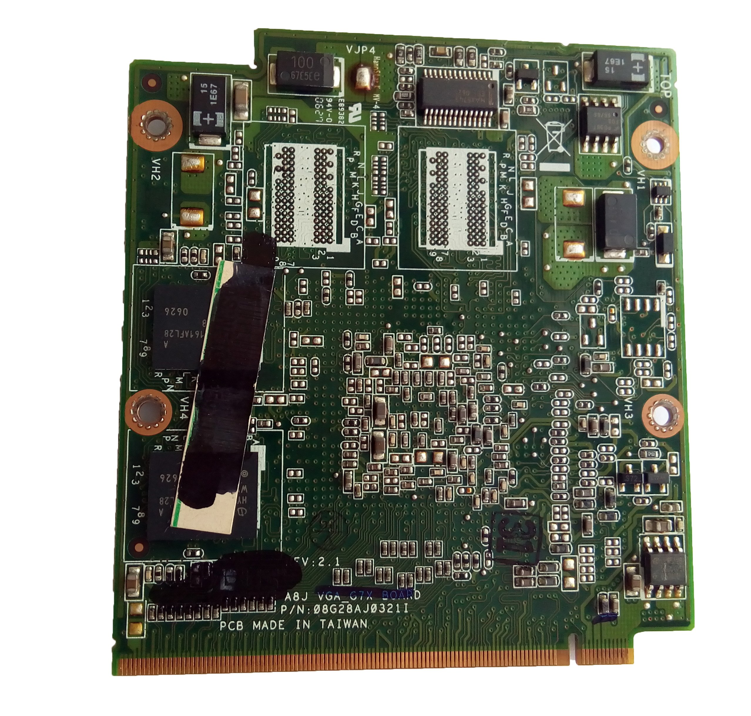 128M Laptop VGA Graphic Card GF-G07300-B-N-AB for Asus A8JC Laptop 60-NF8VG2000-B02 by StylusPen (Image #2)