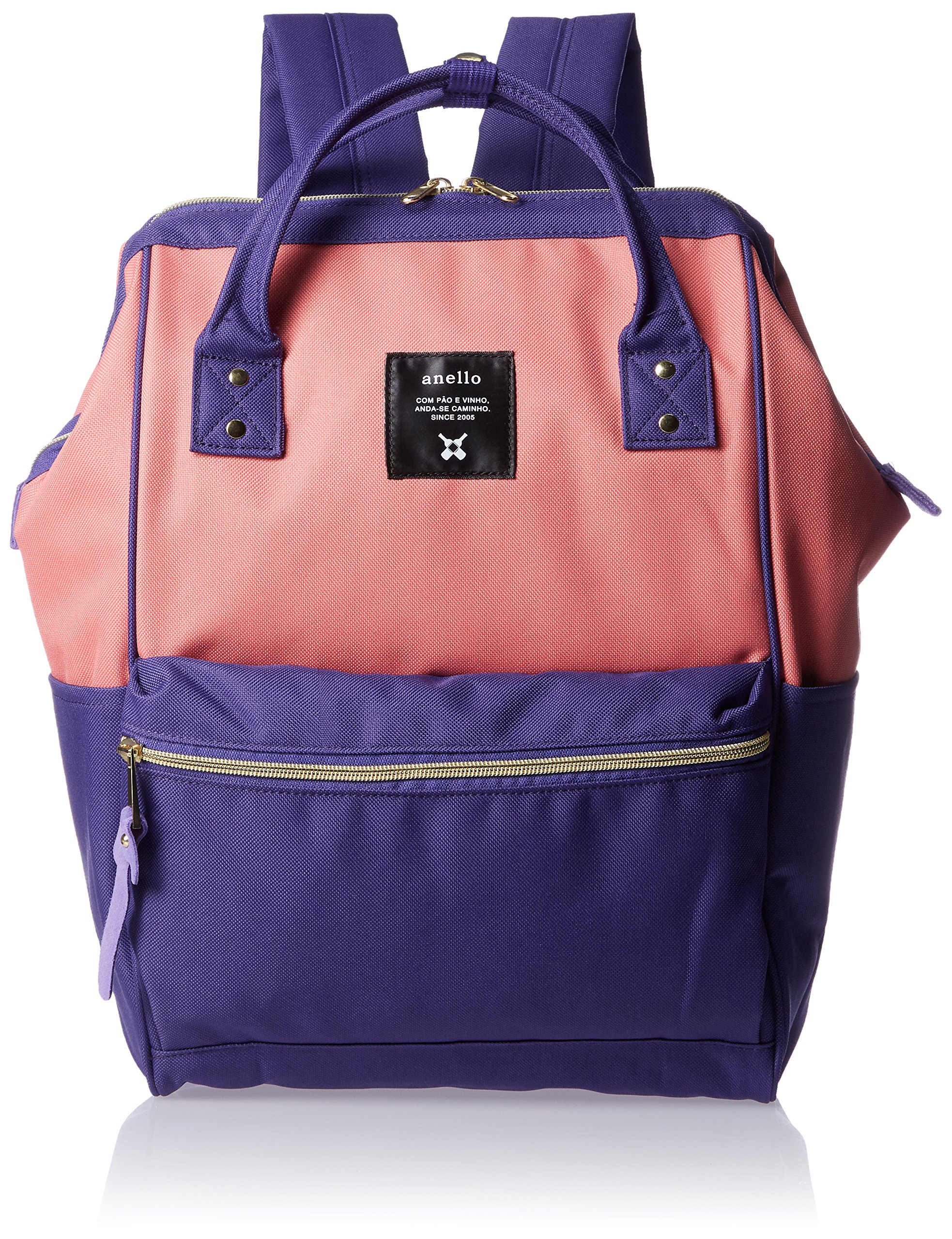 Anello Official Pink-Purple Japan Fashion Shoulder Rucksack Backpack Hand Carry Tablet Diaper Bag Unisex