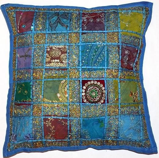 Decorativo de color azul Aqua funda de cojín 16 x 40,64 cm ...